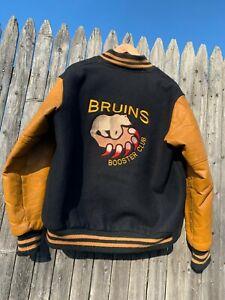 Vintage Leather & Wool Providence Bruins Booster Club Jacket - Hockey - Boston