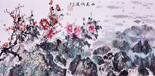 100% ORIENTAL FINE ART CHINESE FLORAL WATERCOLOR PAINTING-Plum blossom flowers
