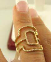 14k Yellow Gold Diamond Rectangular Shape Ring (0.35 ct. t.w.) Lot # Bel