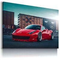 FERRARI ITALIA RED  Super Sport Cars Large Wall Canvas Picture ART  AU434 MATAGA
