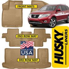 Husky Liners Weatherbeater Floor Mats Combo BLACK fits 2013-19 Nissan Pathfinder