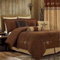 7 Piece Comforter Texas Western Camel Star Luxury Bedspread Bedding Set,Curtains