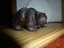 "Genuine Iron Wood hand carved ""Bear"" sculpture ! Must See!"