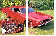 1968 DODGE HEMI SUPER BEE  ~  GREAT 2-PAGE ARTICLE / AD  ~  RARE CAR