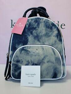 Kate Spade Medium Backpack Jackson Tye-dye Denim Blue Multi
