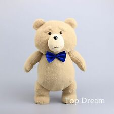 Movie TED Bear with Blue Bow Tie Plush Toy Soft Stuffed Animal Doll 18'' Teddy