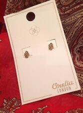 ORELIA London Hamsa Orecchini Oro Pallido & Cristallo Gioielli Alla Moda ~ 9514 ~