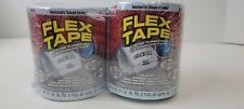 2 Rolls Flex Tape Rubberized Waterproof Tape 4 Inches X 5 Feet Clear