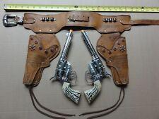 Vintage Gun Smoke Matt Dillon Holster & 2 Matel Fanner 50 (**TOY**) Cap Guns GC