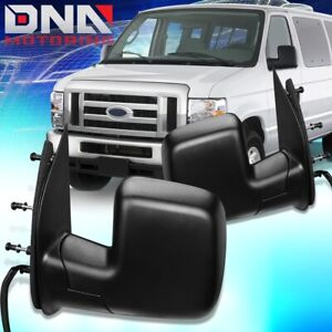 FOR 2002-2006 FORD E150 ECONOLINE PAIR OE STYLE POWERED DOOR MIRROR REPLACEMENT