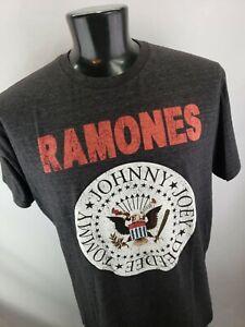 Vintage 00s Ramones Tshirt Black 1234 Band Rock THIN SOFT! Distressed Mens XL