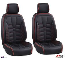Delux Black Front Seat Covers Fabric & PU Leather For Nissan Navara Qashqai Juke