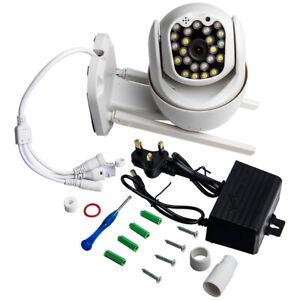 1080P WIFI IP Camera Wireless Outdoor CCTV HD Home Security IR Cam PTZ 12V 2A