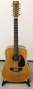 Vintage 70s Fender, 12 String Electro-Acoustic Guitar, F-55-12 SOLID TOP, Japan