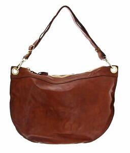 CAMPOMAGGI Single-Strap Bag Cognac