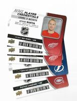 2018-19 Upperdeck MVP hockey NHL PLAYER CREDENTIALS U PICK/CHOOSE