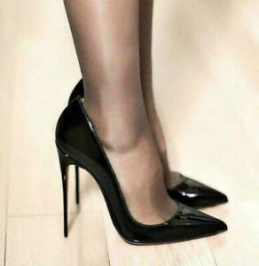 12CM Womens Super High Heels Pointed Toe Sexy Party Nightclub Stilettos Shoes