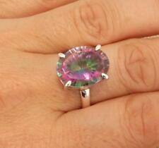 Mystic Topaz Quartz 925 Silver Ring Indian Jewellery Various Sizes