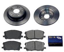 Rear Ceramic Brake Pad Set & Rotor Kit for 2005 Honda Accord 4W DISC-EX-LX