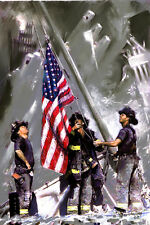 9-11 Firefighters, art print on Canvas by Star