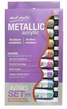 Metallic Acrylic Paint set, 8 colors, 18ml tubes, PNT0092