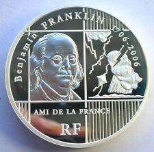 France 2006 Benjamin Franklin 20 Euro 5oz Silver Coin,Proof