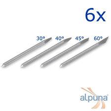 6 Plottermesser für Mimaki 40° ALPUNA Qualitätsmesser