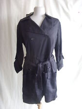 Ladies Coat/jacket - Criminal size L zinc colour BNWT 54.99 belted stylish 0778