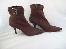 BCBGirls Brown Suede High Heel Ankle Boots Size 7.5B