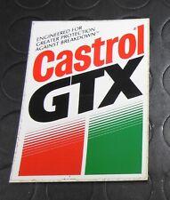 CASTROL GTX  DECAL/STICKER/ADESIVO