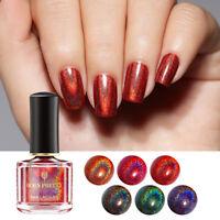 6ml BORN PRETTY Holographic Nail Polish Black Red Laser Glitter Nail Varnish DIY