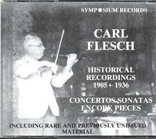 CARL FLESCH - HISTORIC RECORDINGS 1905 - 1936 - 3CD SET - SYMPOSIUM RECORDS