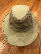 Tilley Hat LTM6 Lightweight Mesh 7 1/4 Airflo Khaki Sage Green Made in Canada
