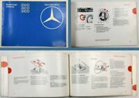 Mercedes Benz 230 Typ W110 Motor M180 Betriebsanleitung Bedienungsanleitung 1965