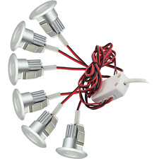 3w X 6 SET Warm White Recess MOUNT LED Under Cabinet PUK Light KIT SLIM PROFILE