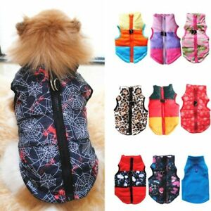 Warm Winter Pet Clothing for Dogs Coat Jacket West Colorful Puppy Clothes