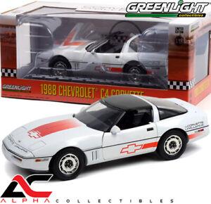 GREENLIGHT 13596 1:18 1988 CHEVROLET C4 CORVETTE CHALLENGE RACE CAR WHIT