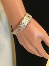 Sterling Silver Flexible Bracelet    Stamped ITALY