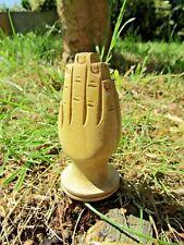 Hand Made Nepalese Wooden Praying Hands Incense Sticks Holder Ash Catcher Burner