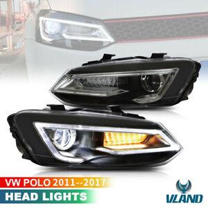 VLAND Fari anteriori Per VW Polo MK5 TDI TSI 2011-2017 Full LED DRL sequenziale