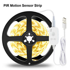 USB PIR Motion Sensor Led Night Light Strip Cabinet Kitchen Closet Lamp DC5V