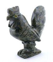 Black Gray Jasper Rooster Carving Carved Gem Stone Gemstone Peru EBS7449