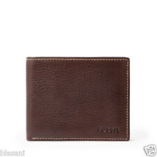 Fossil Original ML3569200 Brown Lincoln Flip ID Bifold Leather Men's Wallet