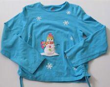 Girls Blue J.Khaki Snowman Long Sleeve Shirt Size 6X J Khaki Girl's Snowflake