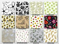 "FLORAL-NATURE Print Gift Tissue Paper Sheet 20"" x 30"" Choose Print & Pack Amount"