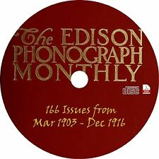 Edison Phonograph Monthly {166 Issues} Vintage Magazine Publication on CD