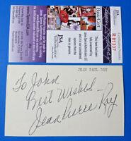 JEAN PAUL ROY SIGNED 3x5 INDEX CARD ~ BROOKLYN DODGERS ~ JSA R85337 ~