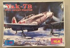 ICM 1:48 Yak-7B WWII Soviet Fighter Plastic Model Kit #48032