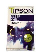 Health & Wellness Teas by Tipson Caffeine Free 20 Enveloped Foil Teabags