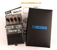 Boss® RV-6 Digital Reverb Effects Electric Guitar Pedal Stomp Box, Mono Stereo